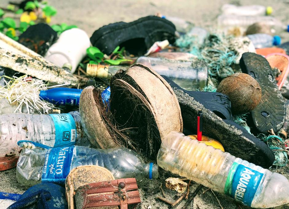 rubbish by the sea