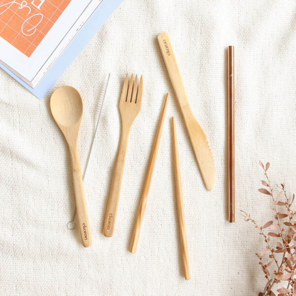 Eco Friendly Utensil Set with Straw Washer Small